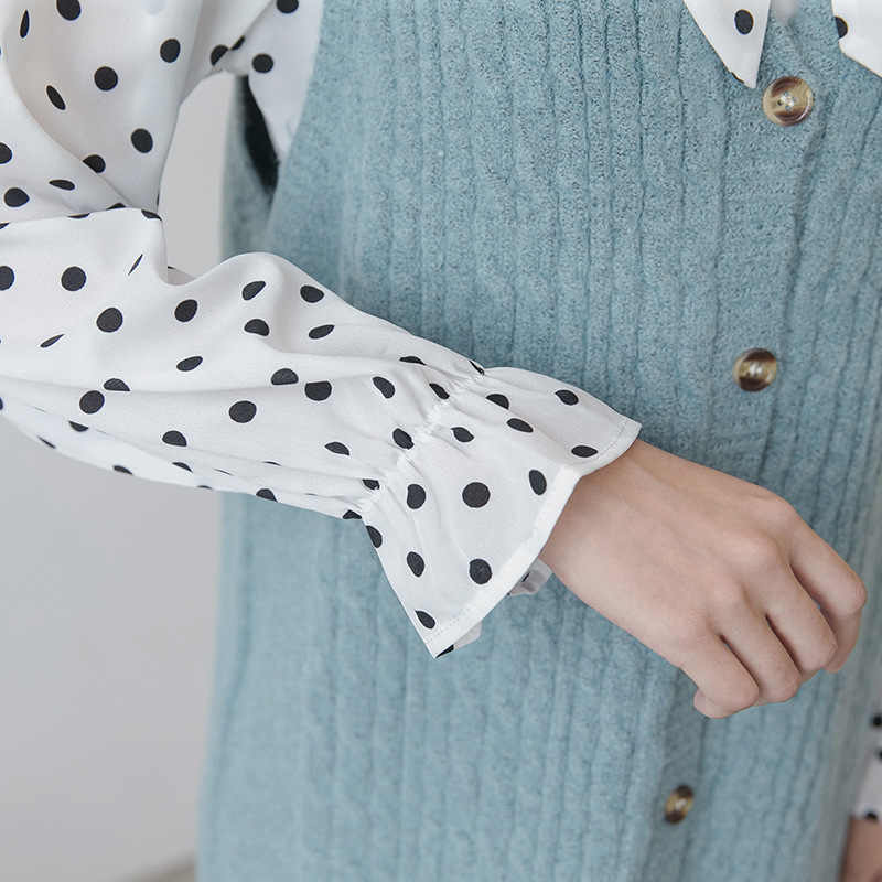 Musim Semi Musim Gugur Sweater Wanita 2Pcs Set Bersalin Rajutan Kehamilan Panjang Sweater M187