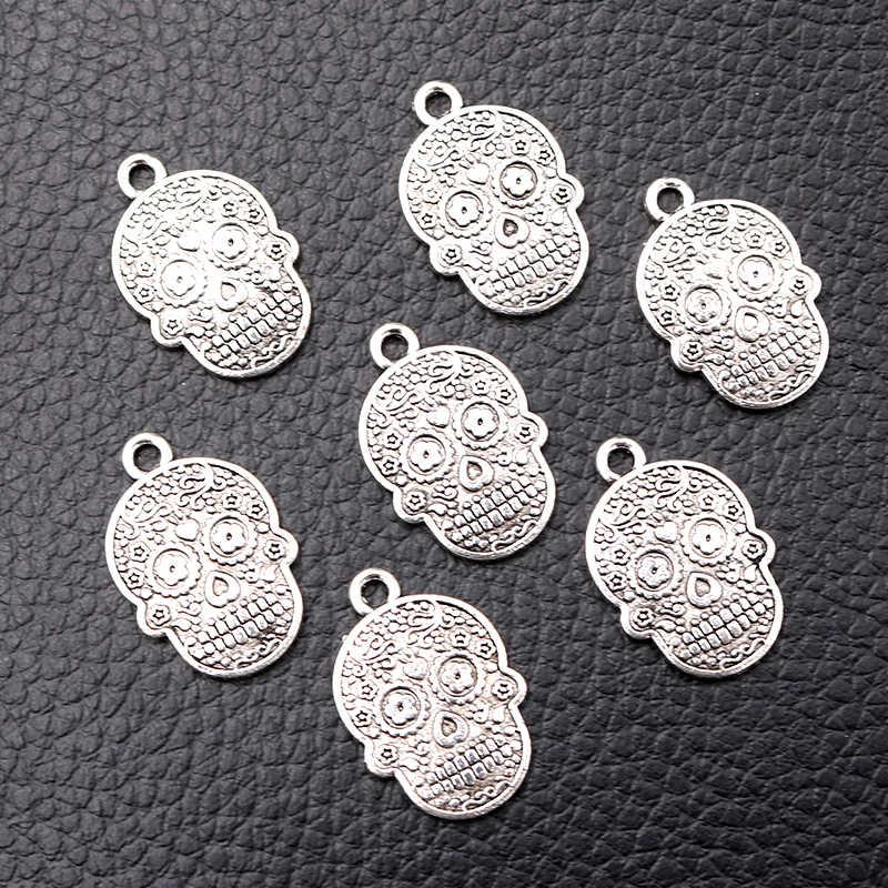 20pcs Sun Tibetan Silver Charms Pendants For Jewelry Making Crafts DIY 33*29mm