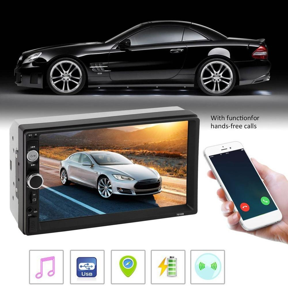 <font><b>7010B</b></font> 7 Inch DOUBLE 2DIN Car MP5 Player BT Touch Screen Stereo Radio HD Multimedia player 4 Light Camera Direction Control image