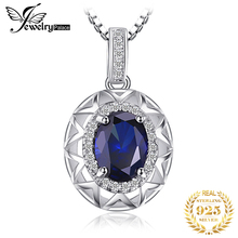 2014 Brand Charm Womens Fashion Gem Blue Sapphire Pendant Necklace Sets For Women Genuine Pure Solid 925 Sterling Silver