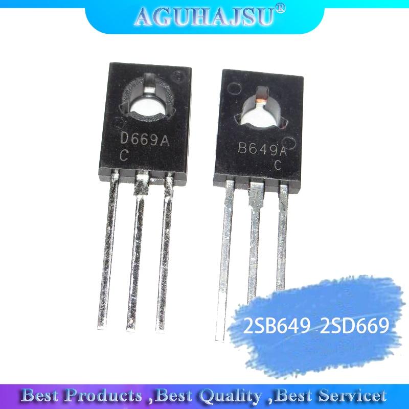 5Pair 2SB649AC 2SD669AC TO-126 2SB649 2SD669 (5pcs B649+5pcs D669 )PNP NPN Epitaxial Planar Transistors