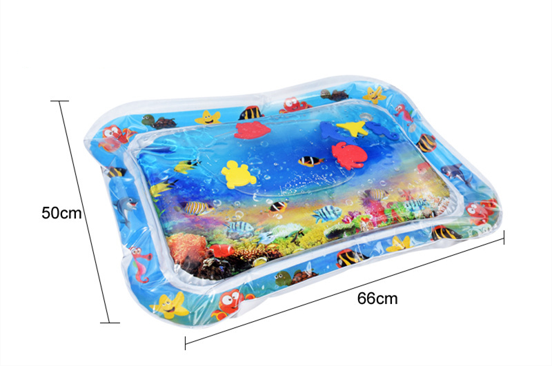 Inflatable Baby Water Floating Mat Thicken PVC Infant Tummy Baby Mat Time Toddler Activity inflatable water mat for children | Happy Baby Mama