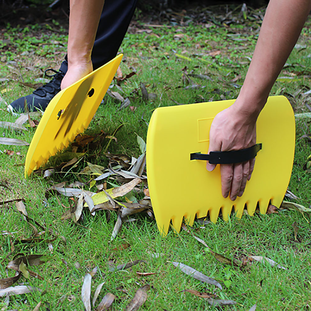 1pair Tool Rubbish Yard Portable Pick Up Grass Grabber Lawn Hand Rakes Leaves Trimming Leaf Scoop Collect Garden Cleaning