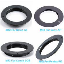 M42 Metal Lens Adapter Screw Mount Lens Ring to For Canon EOS for Nikon AI for Sony AF for Pentax PK Camera Lens Accessories цена 2017
