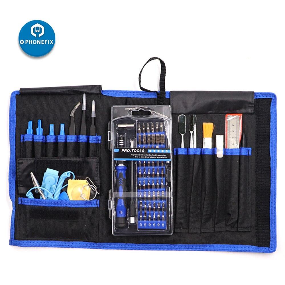 Professional Tablet Cell Phone Repair Opening Tools Kit Set Magnetic Driver Bag
