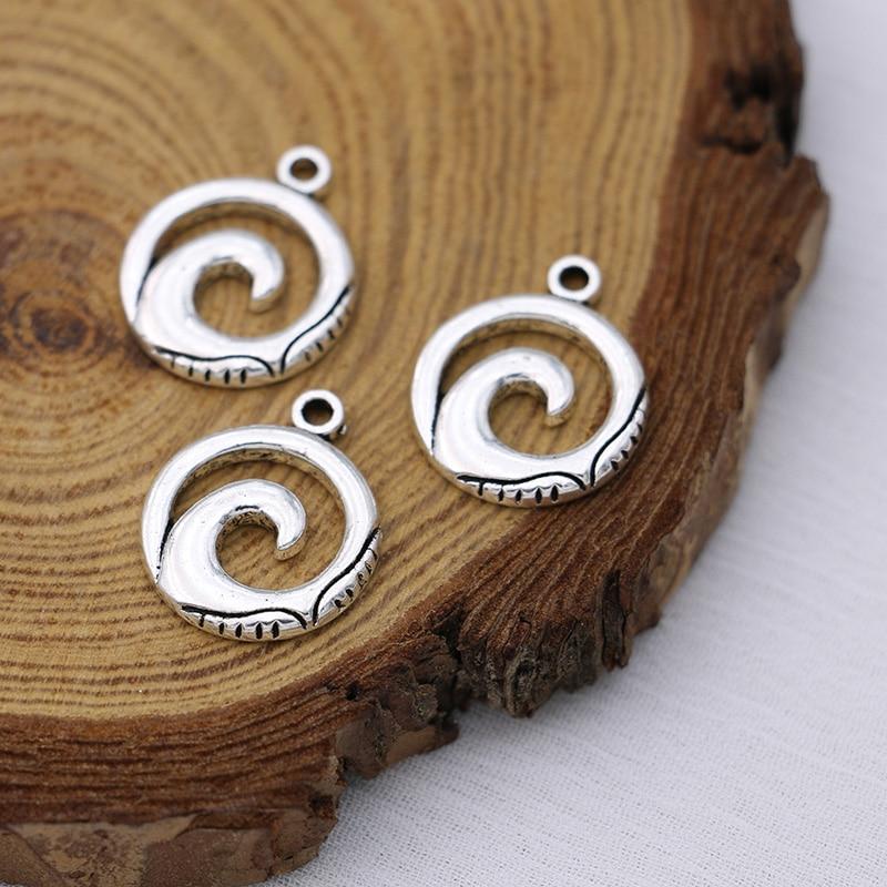 10 шт тибетских Посеребренная Подвеска в виде волн кулон ювелирные изделия делая для браслетов и ожерелий DIY, иных Серьги Аксессуары для руко...
