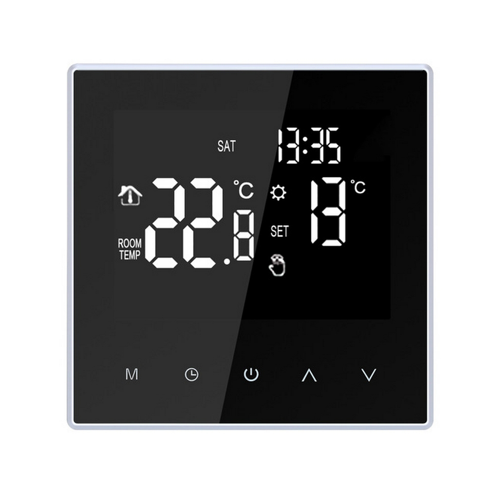 Home Smart Thermostat Touch Screen Digital Wifi Heating Week Programming Thermostat For Electric Underfloor Heating APP Control