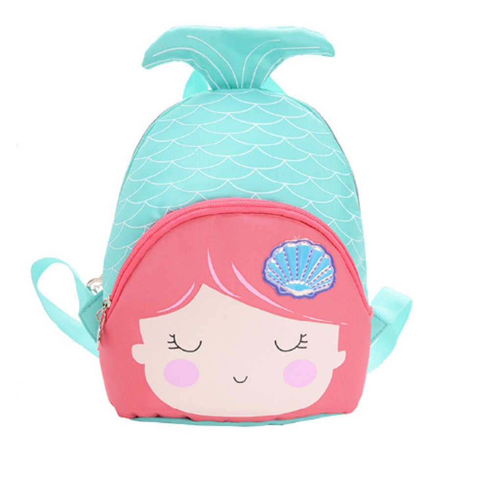 2019 New Cartoon Mermaid Child Girl Backpack Fishtail Cute Mini School Bag Kindergarten Schoolbag Fashion Shoulder Bag For Kids