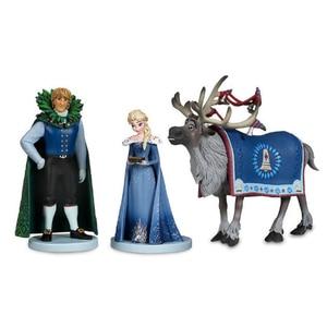 Image 2 - 10Pcs/set Frozen2 Snow Queen Elsa Anna  PVC Action Figures Olaf Kristoff Sven Anime Dolls Figurines Kids Toys For Children Gifts
