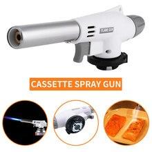 Lassen Gas Brander Vlam Gas Torch Flame Gun Soldeerlamp Koken Solderen Butaan Zelfontbranding Gas-Brander Aansteker Verwarming