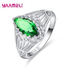 Trendy Oval Shape Blue Fire Opal Rings for Women 925 Sterling Silver Fashion Gothic Ring Fashion Jewelry Female Party Lover Gift(China)
