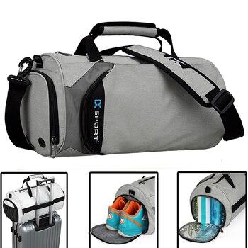 Men Gym Bags For Fitness Training Outdoor Travel Sport Bag Multifunction Dry Wet Separation Bags Sac De Sport 1