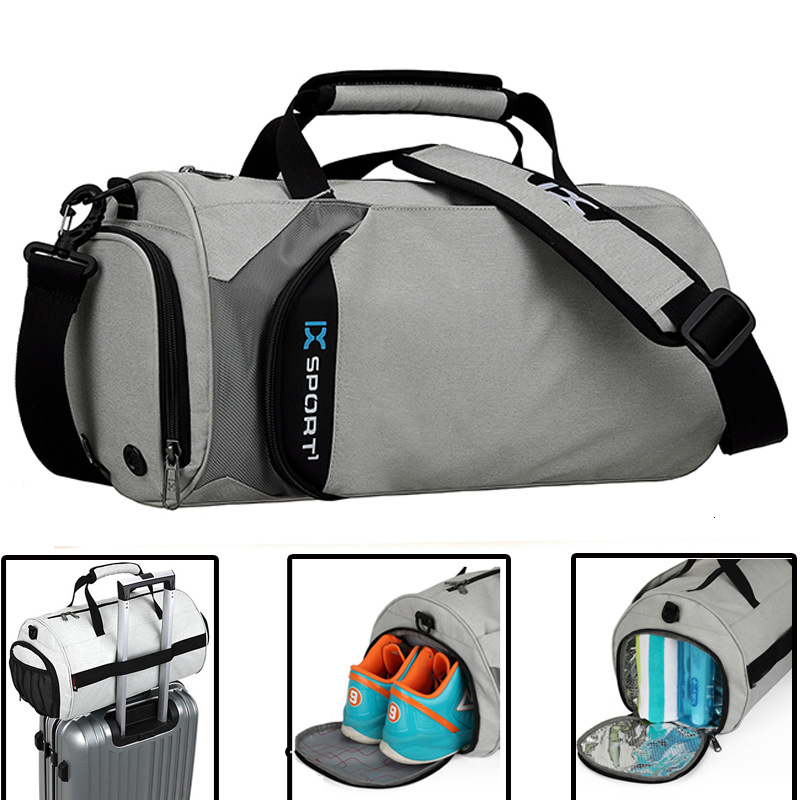Bolsas De gimnasio para hombre, para entrenamiento físico, bolsa De deporte De viaje al aire libre, bolsas multifunción De separación en seco, bolsas De deporte