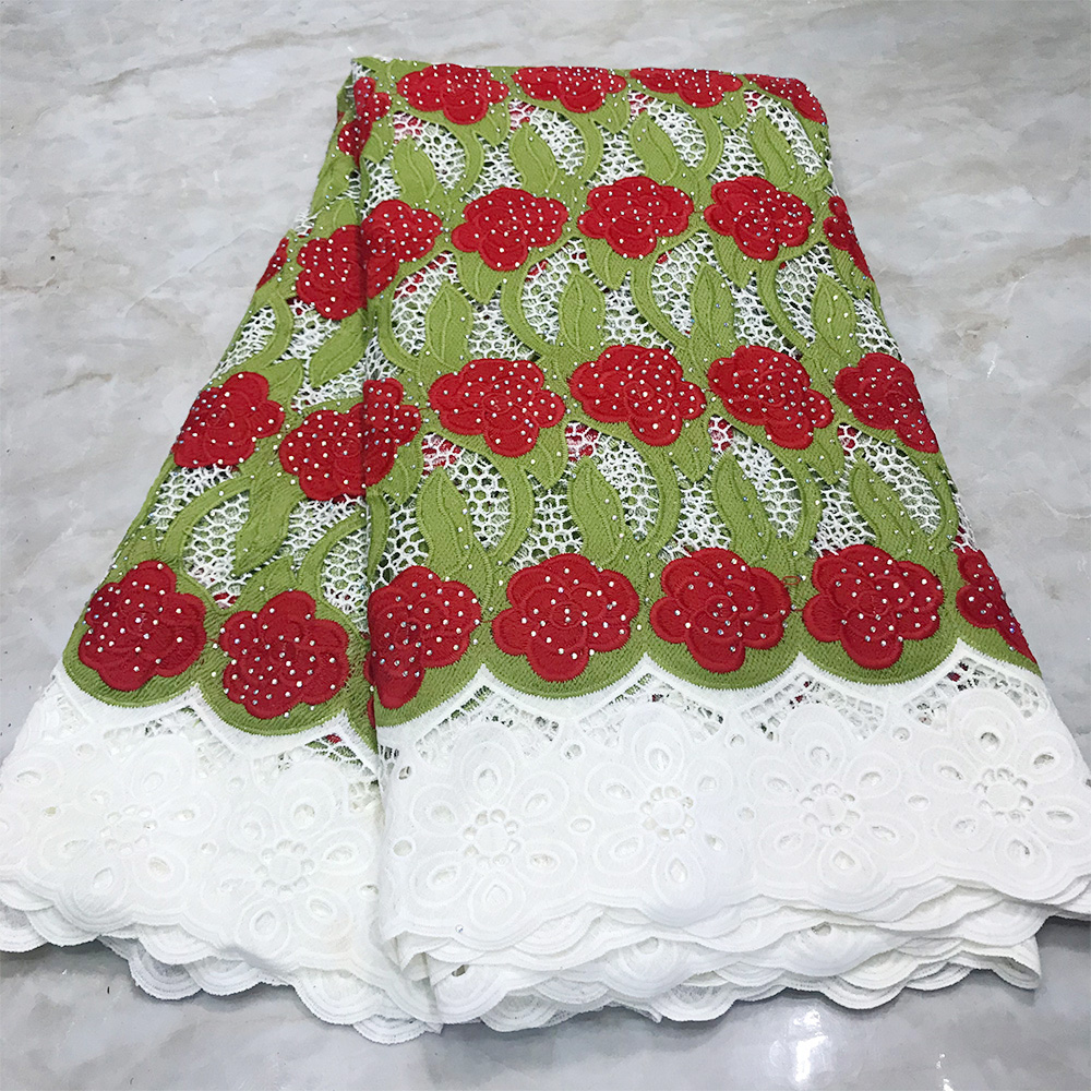 2020 High End Swiss Guipure Lace Fabric With Stones Swiss Voile Lace In Switzerland Water Soluable African Lace For Dress
