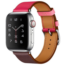 Bucle de cuero genuino para Apple Watch Band 44mm Series 5 4 3 2 todas las versiones accesorios Correa 42mm reemplazo de pulsera de 38mm 40mm(China)