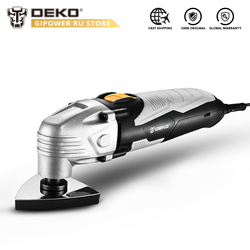 DEKO 220V DKOM40LD1/2 Variable Speed Electric Multifunction Oscillating Tool Electric Trimmer Saw with Accessories