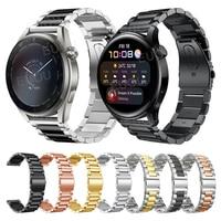 Metall Strap Für HUAWEI UHR 3 Edelstahl Armband GT 2 Pro GT2 46mm Band Smartwatch Armband Armband Ersetzen zubehör