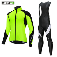 Bike Clothing Cycling Jacket Suit Bicycle Mtb Thermal-Fleece Winter Windproof Road Men