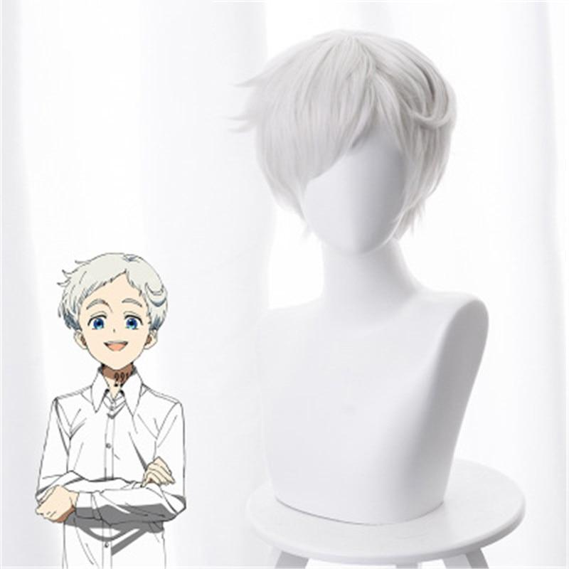 CAP The Promised Neverland Yakusoku no Emma Costume short Cosplay Hair Wig