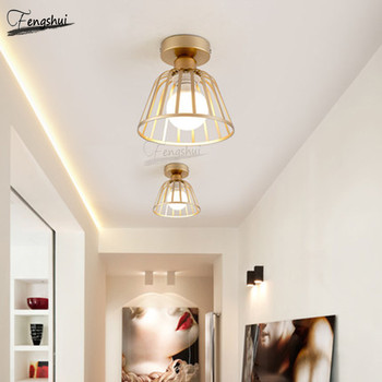 Modern Wrought Iron LED Ceiling Lamp Lighting Nordic Minimalist Corridor Ceiling Lights Restaurant Staircase Decorative Lamps