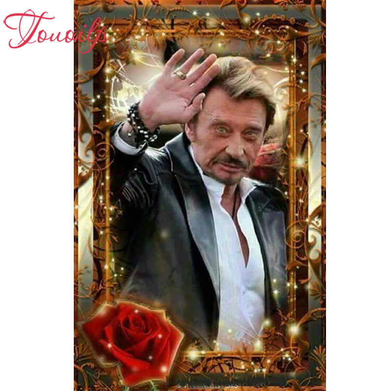 5D diy diamant borduurwerk steek kristal vierkante & ronde diamant sets decoratieve diy rose Johnny Hallyday diamant schilderij mountain