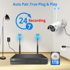 Image 3 - Hiseeu caméra de sécurité WiFi sans fil 1080P IP, lentille 3.6mm, étanche pour Hiseeu, kit de système de vidéosurveillance sans fil, vue par application Pro