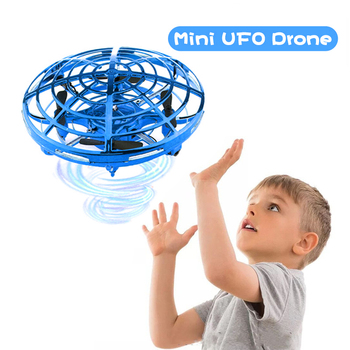 UFO Toys for Kids Mini Drone of Induction by Hand Anti-collision Drone RC Helicopter Hand-operated Quadrocopter Flying Ball Gift