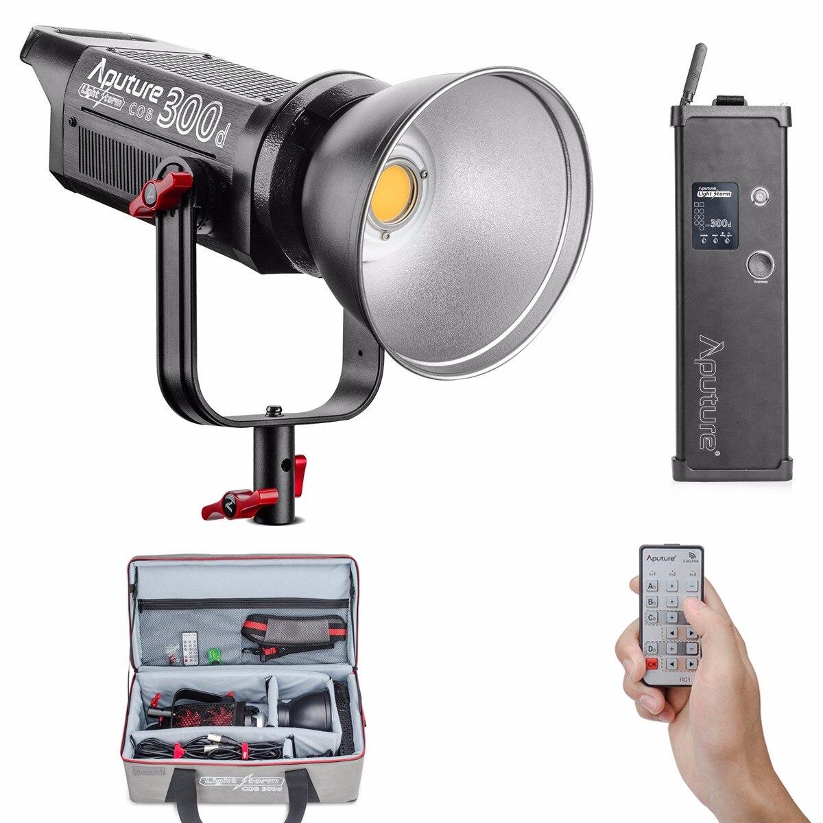 Aputure COB C300D 300D 300W 5500K Дневной сбалансированный светодиодный непрерывный видео свет CRI95 + TLCI96 + 2,4G пульт дистанционного управления 18 дБ для виде