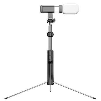 JABS profesional 160cm trípode/palo Selfie con luz, soporte de teléfono ajustable todo en uno con Bluetooth remoto para teléfono