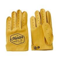 Guantes de cuero genuino para hombre, manoplas transpirables de dedo completo para motocicleta, de cuero de vaca, para entrenamiento y conducción, NR49
