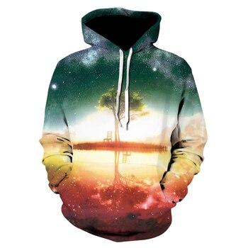 Hot Sale 3D Printed Hoodies Men Women Printed Sweatshirts Tree Funny Pullover oversized hoodie Male Tracksuit Jacket Outwear 1