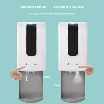 2 In 1  Automatic Liquid Soap Dispenser Wall Touchless Foam Hand Sanitizer Machine Smart Sensor Alcohol Spray Sanitizer Machine недорого