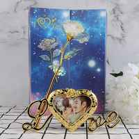 24K Gold Foil Gold Glow Rose Artificial Flower Decoration For Home Party Ornament/artificial flower,flower lights