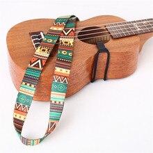 Ethnic Style Strap Clip On Ukulele Belt Instrument Accessories Design Nylon Ribbon Adjustable Guitar Strap Ukulele Strap Belt strap hawaii guitarra ukulele rainbow strap adjustable multicolor ukulele strap soft nylon belt for hawaiian guitar ukulele