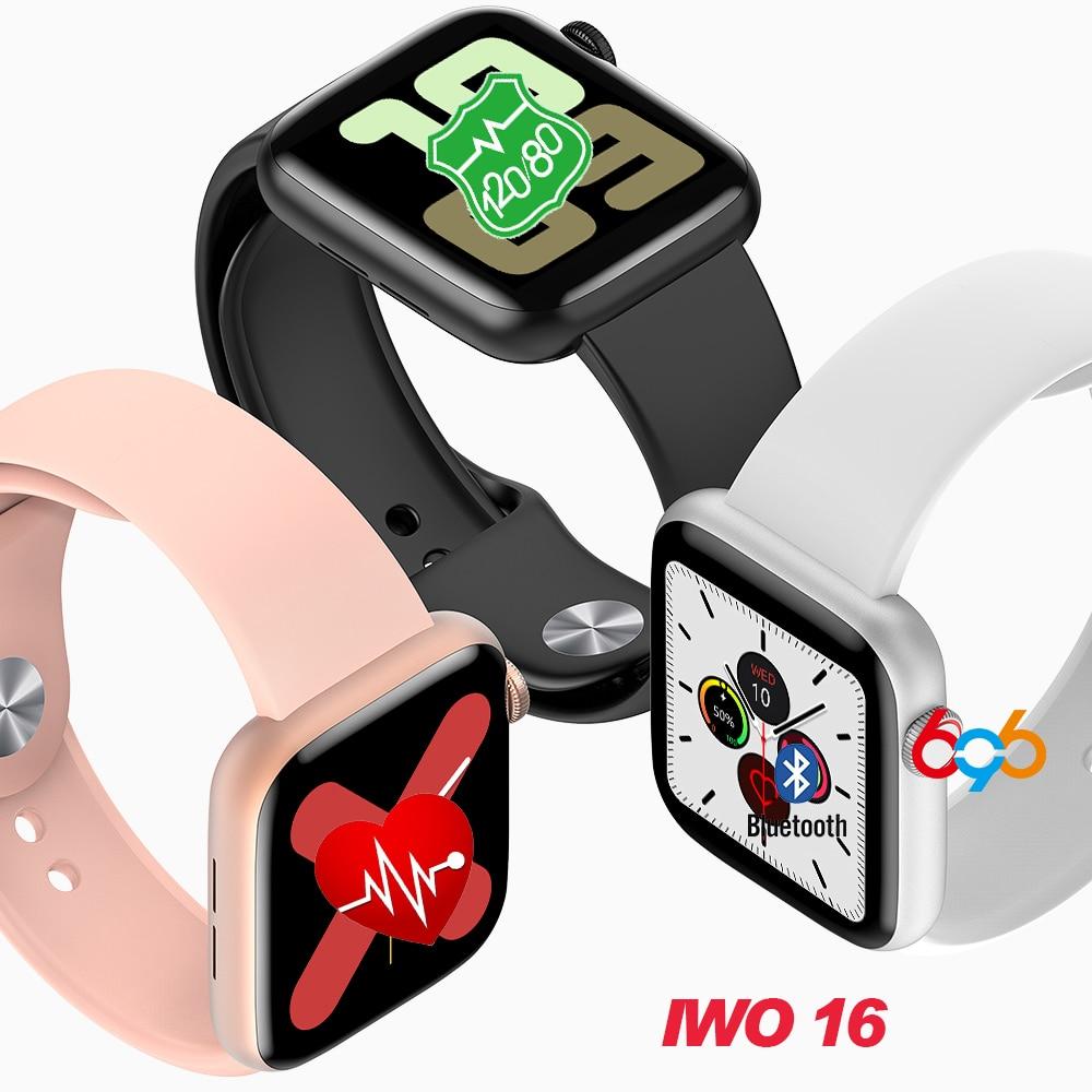 W75 Men Women Smart watch IWO 16 smartwatch 44MM Watch 5 W75 Blood Oxygen ECG Blood Pressure Heart Rate Monitor Fitness Bracelet