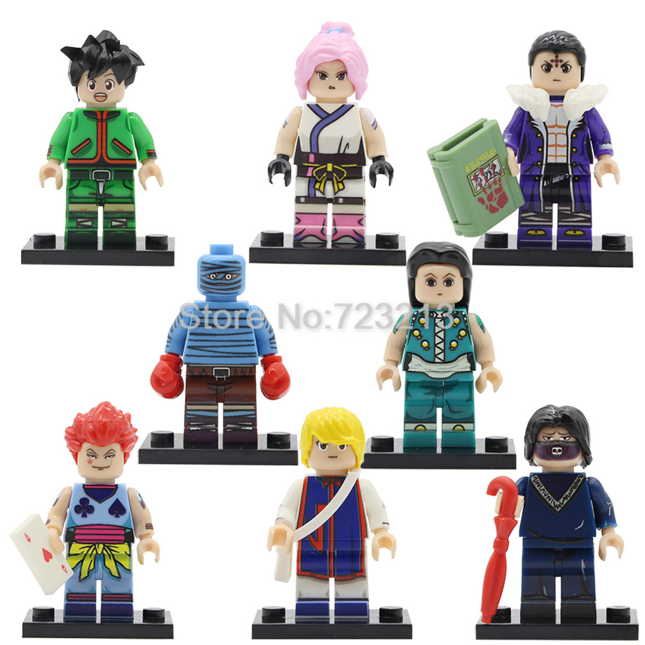 Single PG8170 HUNTER X HUNTER Figure Gon Freecss Machi Kulolo FEI Bonolenov Kurapika Hisoka Illumi Building Blocks Toys Legoing
