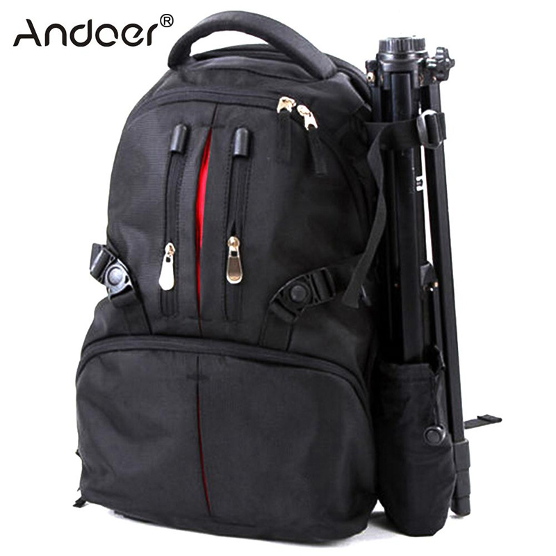 Andoer Professional Camera Backpack Photography Package DSLR Camera Bag Backpack Waterproof Shockproof High Quality