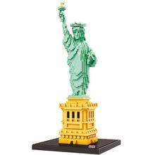 Zhenwei 3D Model Statue of Liberty Blocks Set 2510 Pcs World Famous Architectural Model Toys for Kid DIY Diamond Bricks Toys стоимость