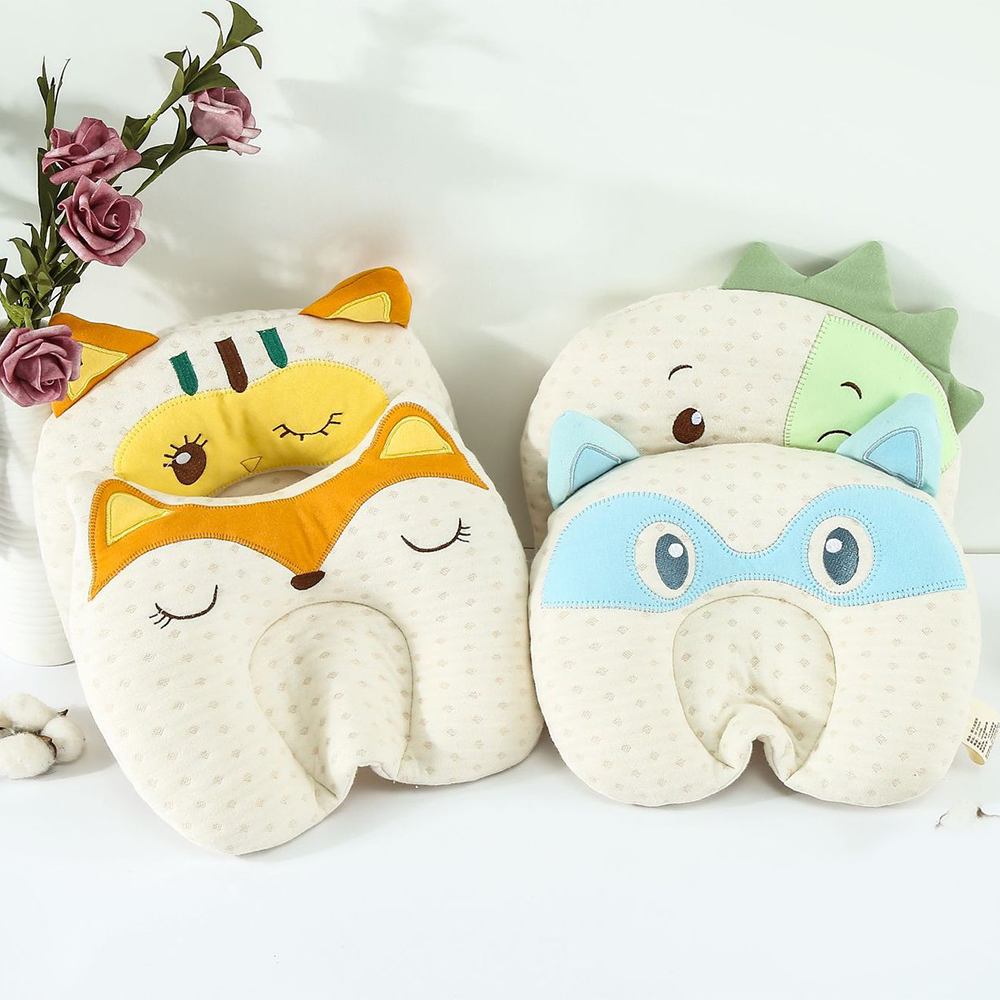Newborn Boys Girls Nursing Pillows Home Decor Baby Head Neck Pretection Pillow Cushion Cotton Bedding Kids Head Shaping Pillow