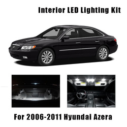12 Bulbs White LED Car Dome Ceiling Light Interior Kit Fit For 2006-2009 2010 2011 Hyundai Azera Trunk Door License Plate Lamp