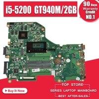 E5-573G  Motherboard mainboard For Acer Aspire E5-573G I5-5200U GT940/GT920M-2 GB DA0ZRTMB6D0 trabalho de Teste 100% original