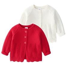 Autumn Girls Cardigan Spring Cotton Sweater Top Baby Girl Children Clothing Princess Girls Knitted Cardigan Sweater Kids Toddler