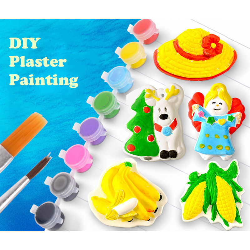 criancas pintura de gesso brinquedos diy coloracao 01
