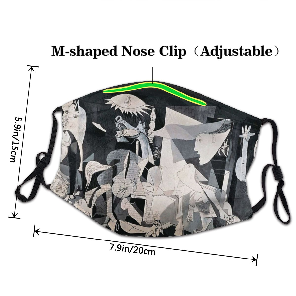 Pablo Picasso Guernica Adult Non-Disposable Mouth Face Mask Art Artist Spanish Anti Haze Dustproof Protection Cover Respirator 2