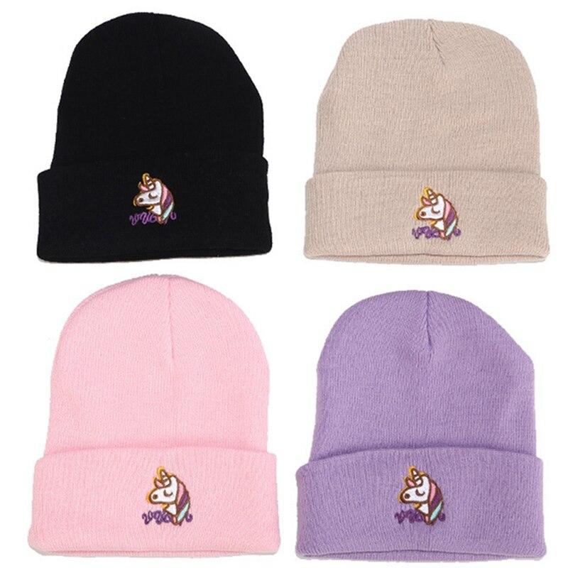 Unicorn Warm Winter Hat Knit Beanie Skull Cap Cuff Beanie Hat Winter Hats for Men /& Women