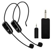 U12F Uhf Um Para Dois fone de Ouvido Sem Fio do Microfone Amplificador Misturador Adequado Para Guias de Ensino Reunião Palestras