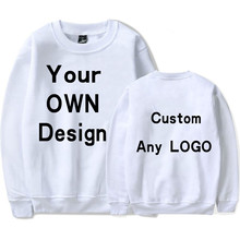 BTFCL 2019 Customized Men Women Hoodie Print Like Photo or Logo Text DIY Your OWN Design 100% Cotton Sweatshirt