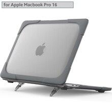 Ударопрочный складной чехол для Apple MacBook Pro, 16 дюймов, чехол 2020 A2141, Мягкий Силиконовый ТПУ + Жесткий ПК, подставка, новый внешний чехол-подстав...