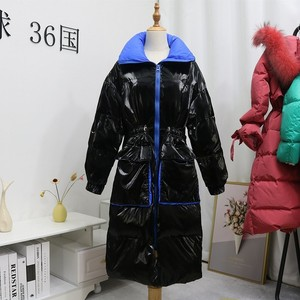 Image 5 - FTLZZ New Winter Jacket Women White Duck Down Parkas Female Stand Collar Thicken Warm Coat Silver Black Snow Down Outwear