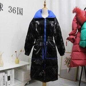 Image 5 - Ftlzz 新冬のジャケットの女性白アヒルダウンパーカー女性スタンド襟厚くコートシルバー黒雪ダウン生き抜く